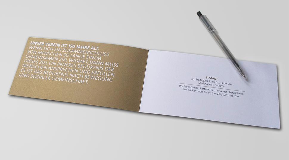 Grafik Jubiläum Tvs | Studio/rb, Einladungs